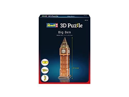 Revell 3d Puzzle Big Ben Un Punto Di Riferimento Di Londra Scopri Il Mondo In 3d Divertiti Per Grandi E Piccini Colori 120 0 0