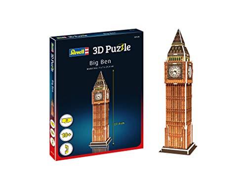 Revell 3d Puzzle Big Ben Un Punto Di Riferimento Di Londra Scopri Il Mondo In 3d Divertiti Per Grandi E Piccini Colori 120 0