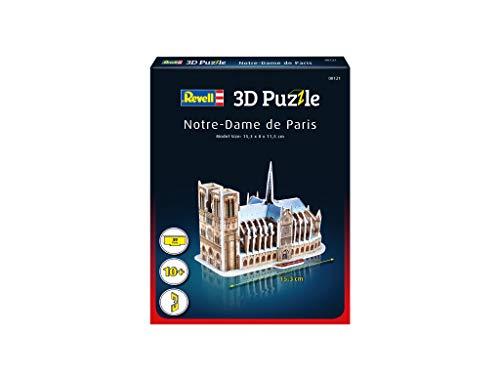 Revell 3d Puzzle Cattedrale Di Notre Dame Il Cuore Di Parigi Scopri Il Mondo In 3d Divertiti Per Grandi E Piccini Colori 121 0 0
