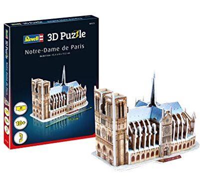 Revell 3d Puzzle Cattedrale Di Notre Dame Il Cuore Di Parigi Scopri Il Mondo In 3d Divertiti Per Grandi E Piccini Colori 121 0
