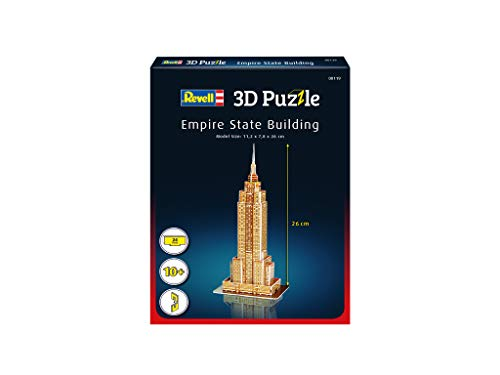 Revell 3d Puzzle Empire State Building Il Grattacielo Un Punto Di Riferimento Di New York Scopri Il Mondo In 3d Divertiti Per Grandi E Piccini Colori 119 0 0