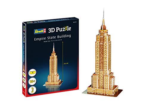 Revell 3d Puzzle Empire State Building Il Grattacielo Un Punto Di Riferimento Di New York Scopri Il Mondo In 3d Divertiti Per Grandi E Piccini Colori 119 0