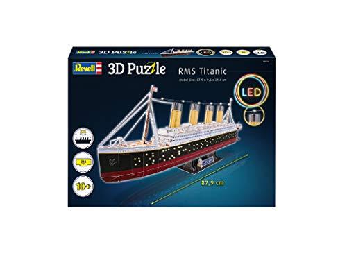 Revell 3d Puzzle Probabilmente La Nave Piu Famosa Al Mondo Rms Titanic Con Illuminazione A Led Scopri 3d Divertiti Per Grandi E Piccini Colori 154 0 0