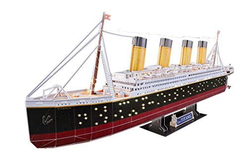 Revell 3d Puzzle Probabilmente La Nave Piu Famosa Al Mondo Rms Titanic Con Illuminazione A Led Scopri 3d Divertiti Per Grandi E Piccini Colori 154 0 1
