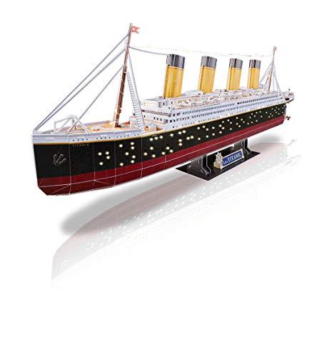 Revell 3d Puzzle Probabilmente La Nave Piu Famosa Al Mondo Rms Titanic Con Illuminazione A Led Scopri 3d Divertiti Per Grandi E Piccini Colori 154 0 2
