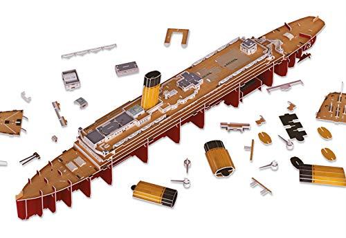 Revell 3d Puzzle Probabilmente La Nave Piu Famosa Al Mondo Rms Titanic Con Illuminazione A Led Scopri 3d Divertiti Per Grandi E Piccini Colori 154 0 4