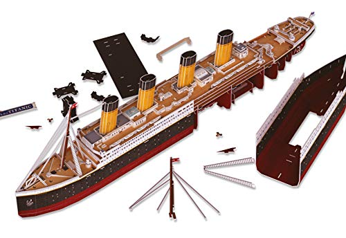 Revell 3d Puzzle Probabilmente La Nave Piu Famosa Al Mondo Rms Titanic Con Illuminazione A Led Scopri 3d Divertiti Per Grandi E Piccini Colori 154 0 5