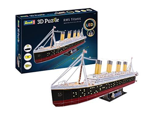 Revell 3d Puzzle Probabilmente La Nave Piu Famosa Al Mondo Rms Titanic Con Illuminazione A Led Scopri 3d Divertiti Per Grandi E Piccini Colori 154 0