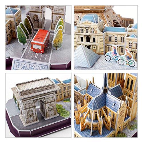 Revell Skyline Di Parigi 3d Puzzle Colore Multi Colour 00141 0 5