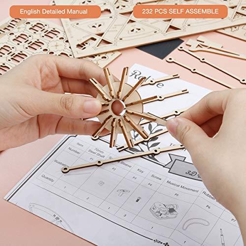 Robotime 3d Puzzle Per Bambini Kit Di Modelli In Legno Che Costruiscono Puzzle Rompicapo Regalo Per 8 Anni Ferris Wheel 0 1
