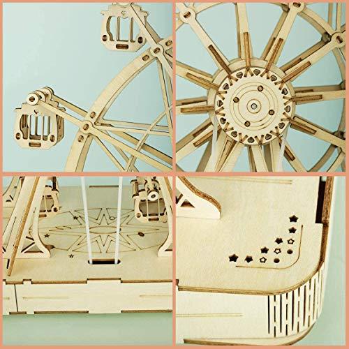 Robotime 3d Puzzle Per Bambini Kit Di Modelli In Legno Che Costruiscono Puzzle Rompicapo Regalo Per 8 Anni Ferris Wheel 0 3