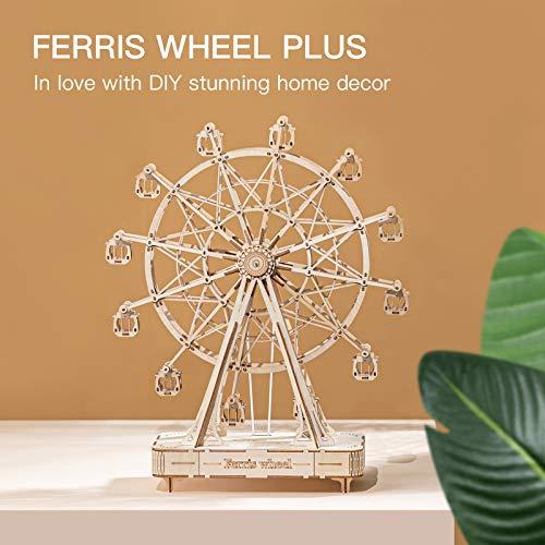 Robotime 3d Puzzle Per Bambini Kit Di Modelli In Legno Che Costruiscono Puzzle Rompicapo Regalo Per 8 Anni Ferris Wheel 0 4