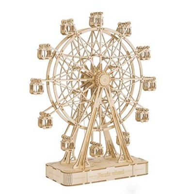 Robotime 3d Puzzle Per Bambini Kit Di Modelli In Legno Che Costruiscono Puzzle Rompicapo Regalo Per 8 Anni Ferris Wheel 0