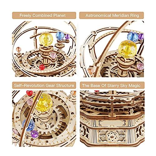 Robotime Astronomia Carillon Meccanico In Legno 3d Taglio Al Laser Set Fai Da Te Regalo Per Ragazzi E Adulti 0 1