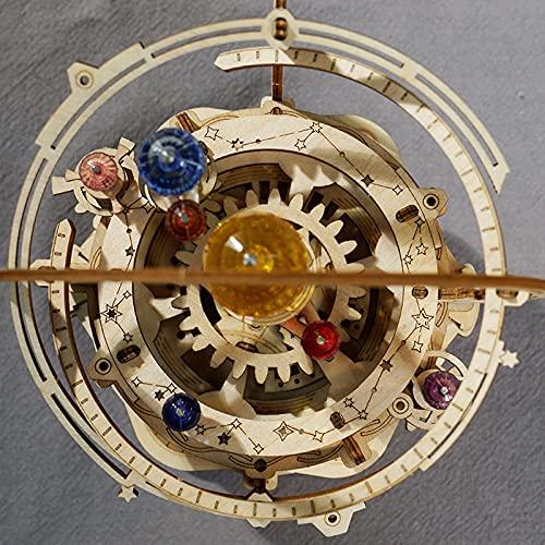 Robotime Astronomia Carillon Meccanico In Legno 3d Taglio Al Laser Set Fai Da Te Regalo Per Ragazzi E Adulti 0 4