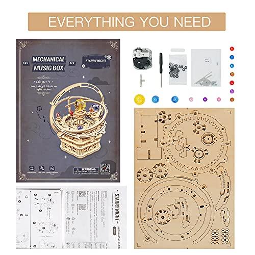 Robotime Astronomia Carillon Meccanico In Legno 3d Taglio Al Laser Set Fai Da Te Regalo Per Ragazzi E Adulti 0 5