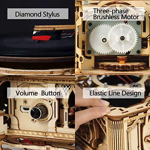 Robotime Puzzle 3d Giradischi In Legno A 3 Velocita In Legno Kit Di Modello Di Costruzione Giradischi Vintage Grammofono Kit Artigianali Cubicfun Puzzle Per Adulti Bambini 0 3