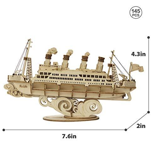 Robotime Puzzle 3d In Legno Per Bambini E Adulti Kit Di Costruzione Di Barche Rompicapo Artigianale Kit Fai Da Te Per Bambini Dagli 8 Anni In Su Veliero 0 3