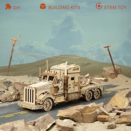 Robotime Puzzle Pesante Per Camion 3d Costruito Sul Tuo Kit Di Modelli In Legno Con Taglio Laser Per Adulti 0 0