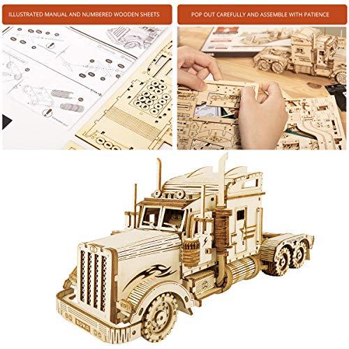 Robotime Puzzle Pesante Per Camion 3d Costruito Sul Tuo Kit Di Modelli In Legno Con Taglio Laser Per Adulti 0 1