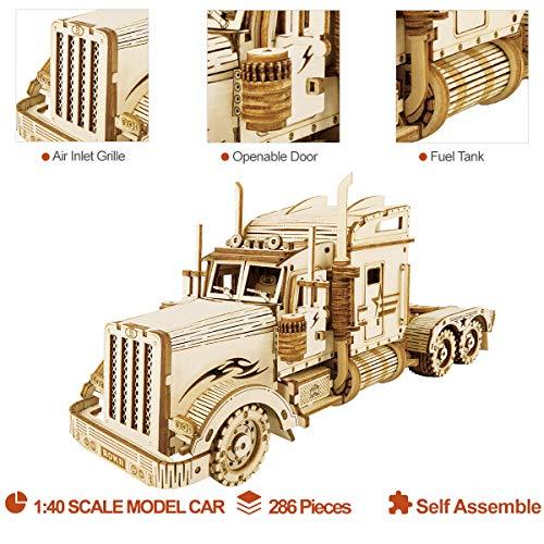 Robotime Puzzle Pesante Per Camion 3d Costruito Sul Tuo Kit Di Modelli In Legno Con Taglio Laser Per Adulti 0 3