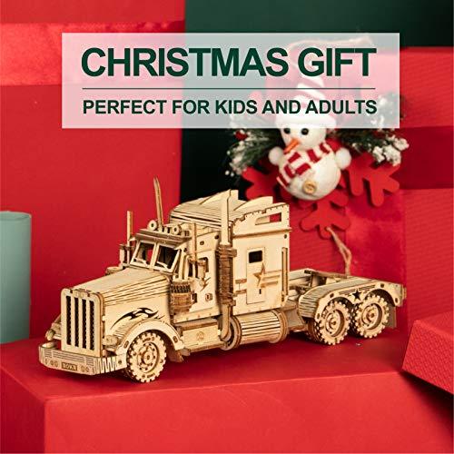 Robotime Puzzle Pesante Per Camion 3d Costruito Sul Tuo Kit Di Modelli In Legno Con Taglio Laser Per Adulti 0 4