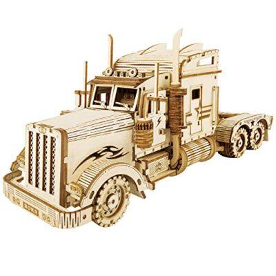 Robotime Puzzle Pesante Per Camion 3d Costruito Sul Tuo Kit Di Modelli In Legno Con Taglio Laser Per Adulti 0