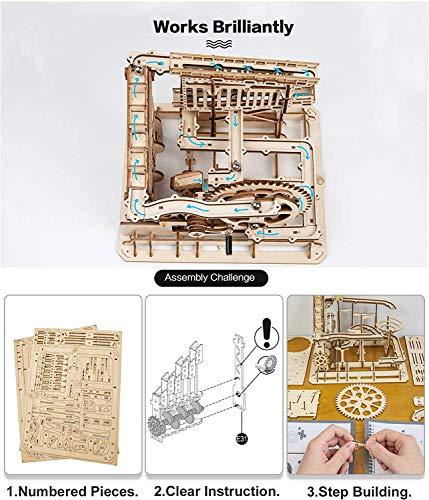 Robotime Puzzle In Legno Tagliato Al Laser Kit Modello Set Costruzione 3d Puzzle Gioca Cog Coaster 0 1