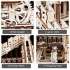 Robotime Puzzle In Legno Tagliato Al Laser Kit Modello Set Costruzione 3d Puzzle Gioca Cog Coaster 0 2