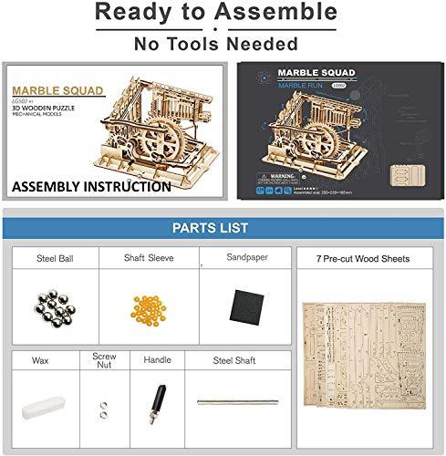 Robotime Puzzle In Legno Tagliato Al Laser Kit Modello Set Costruzione 3d Puzzle Gioca Cog Coaster 0 4