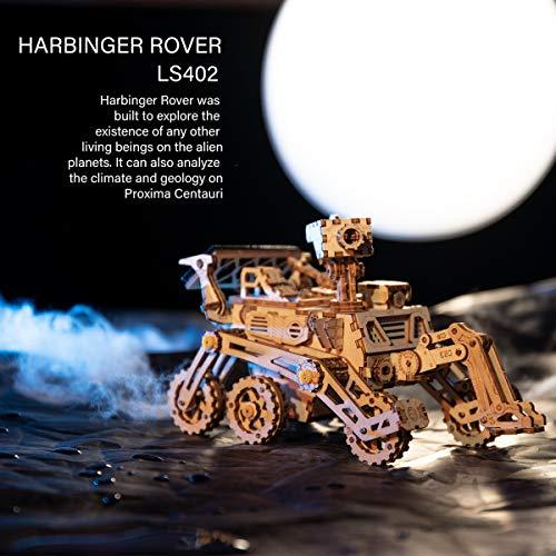 Robotime Solar Powered Stem Toys Taglio Laser Kit Modello Di Auto Robot Fai Da Te Puzzle In Legno 3d Eta 14 Puzzle 3d Adulto Curiosity Rover 0 1