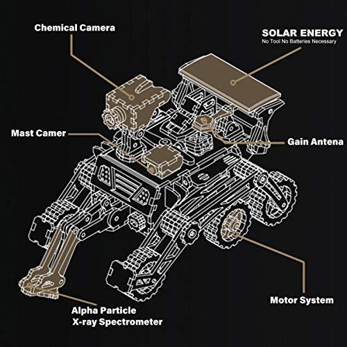 Robotime Solar Powered Stem Toys Taglio Laser Kit Modello Di Auto Robot Fai Da Te Puzzle In Legno 3d Eta 14 Puzzle 3d Adulto Curiosity Rover 0 2