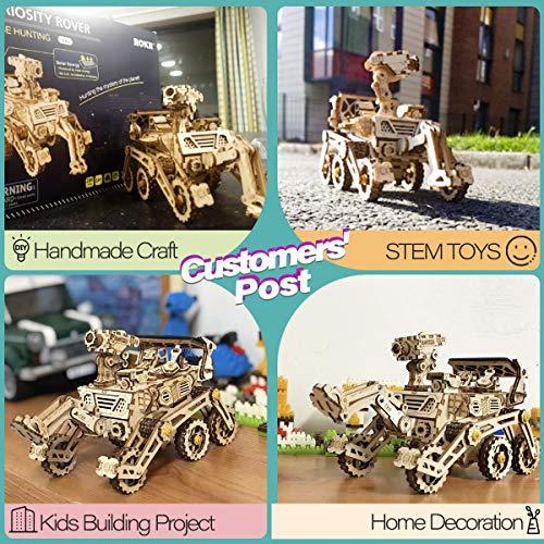 Robotime Solar Powered Stem Toys Taglio Laser Kit Modello Di Auto Robot Fai Da Te Puzzle In Legno 3d Eta 14 Puzzle 3d Adulto Curiosity Rover 0 3
