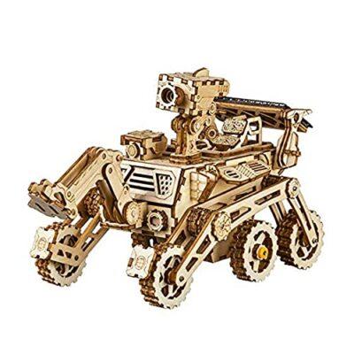 Robotime Solar Powered Stem Toys Taglio Laser Kit Modello Di Auto Robot Fai Da Te Puzzle In Legno 3d Eta 14 Puzzle 3d Adulto Curiosity Rover 0