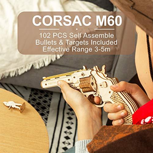 Robotime Toys Gun Kit Modello Di Edificio Meccanico Puzzle In Legno 3d Per Bambini Di 14 Anni Corsac M60 0 0