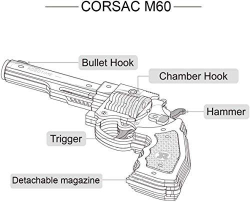 Robotime Toys Gun Kit Modello Di Edificio Meccanico Puzzle In Legno 3d Per Bambini Di 14 Anni Corsac M60 0 2