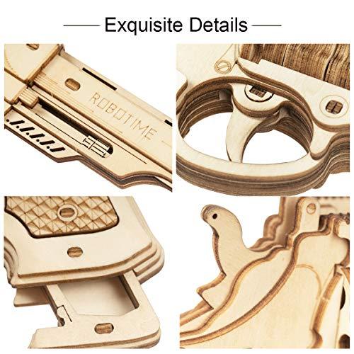 Robotime Toys Gun Kit Modello Di Edificio Meccanico Puzzle In Legno 3d Per Bambini Di 14 Anni Corsac M60 0 3