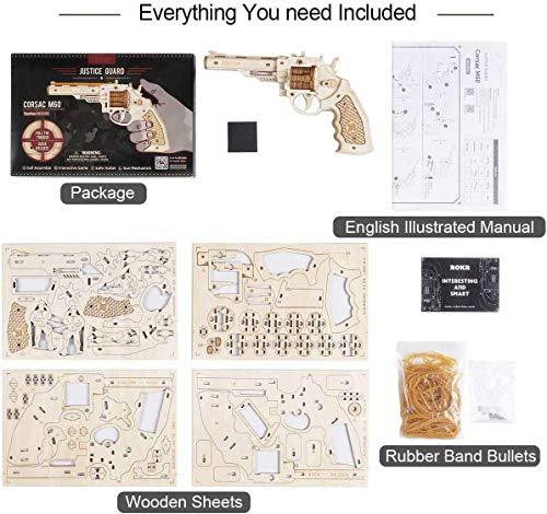 Robotime Toys Gun Kit Modello Di Edificio Meccanico Puzzle In Legno 3d Per Bambini Di 14 Anni Corsac M60 0 4