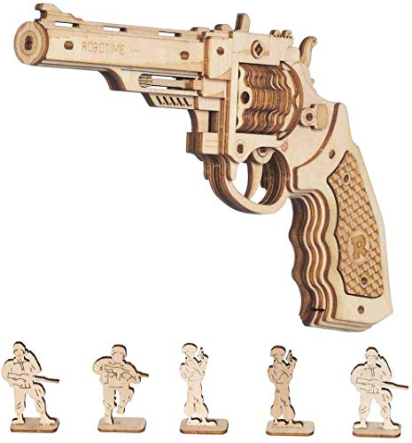 Robotime Toys Gun Kit Modello Di Edificio Meccanico Puzzle In Legno 3d Per Bambini Di 14 Anni Corsac M60 0