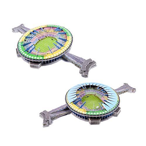 Stadio 3d Jigsaw Puzzle 3d Puzzle Giocattolo Educativo Fai Da Te Brasile Maracana Stadium Regali Per Ragazzi E Ragazze 0 3