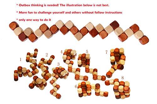 Towo Rompicapo In Legno Puzzle In Legno 3d Twist Snake Cube Wood Giochi Intelligenti Per Bambini Adulti E Ragazzi Puzzle Rompicapo In Legno Rompicapo Legno 0 0