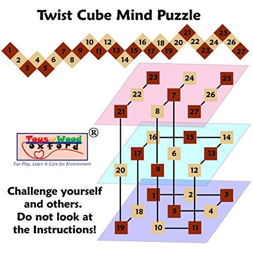 Towo Rompicapo In Legno Puzzle In Legno 3d Twist Snake Cube Wood Giochi Intelligenti Per Bambini Adulti E Ragazzi Puzzle Rompicapo In Legno Rompicapo Legno 0 2