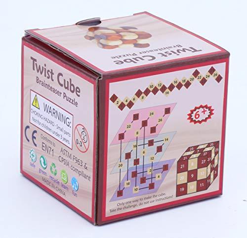 Towo Rompicapo In Legno Puzzle In Legno 3d Twist Snake Cube Wood Giochi Intelligenti Per Bambini Adulti E Ragazzi Puzzle Rompicapo In Legno Rompicapo Legno 0 3