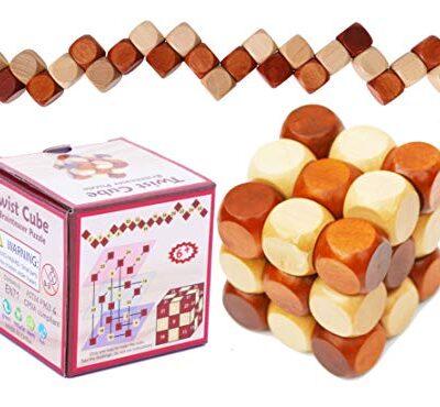 Towo Rompicapo In Legno Puzzle In Legno 3d Twist Snake Cube Wood Giochi Intelligenti Per Bambini Adulti E Ragazzi Puzzle Rompicapo In Legno Rompicapo Legno 0