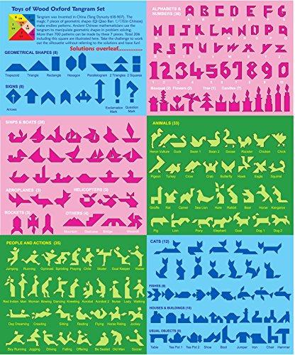 Towo Tangram Puzzle Di Legno Per Bambini Blocchi Grandi E Scatola Colorata Oltre 200 Combinazioni E Forme Geometriche Ideale Da Portare In Viaggio Gioco Di Abilita In Legno Per Bambini E Adulti 0 0