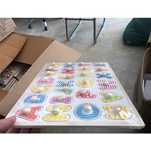 Toyandona Montessori Puzzle In Legno Con Lettere Dellalfabeto Puzzle In Legno Abc Giocattolo Educativo Per Bambini 0 0