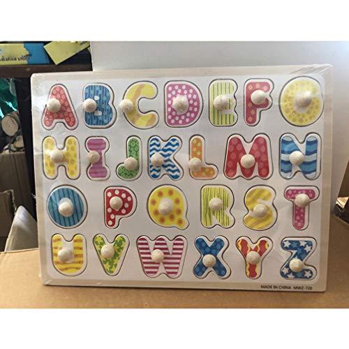Toyandona Montessori Puzzle In Legno Con Lettere Dellalfabeto Puzzle In Legno Abc Giocattolo Educativo Per Bambini 0 1