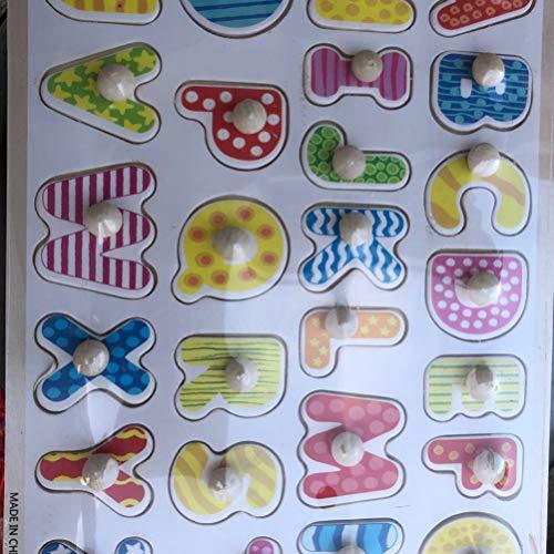 Toyandona Montessori Puzzle In Legno Con Lettere Dellalfabeto Puzzle In Legno Abc Giocattolo Educativo Per Bambini 0 3