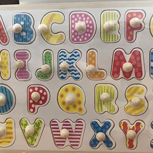 Toyandona Montessori Puzzle In Legno Con Lettere Dellalfabeto Puzzle In Legno Abc Giocattolo Educativo Per Bambini 0 5