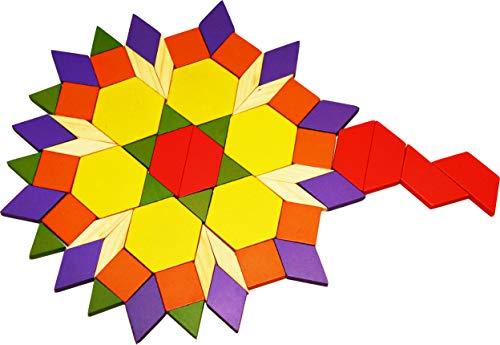 Toys Of Wood Oxford Towo 60 Formine Geometriche In Legno Per Creare Forme E Abbinamenti In Una Scatola Di Legno Gioco Tangram Di Selezione Di Forme Forme Geometriche Per Bambini Di 3 4 5 Anni 0 1